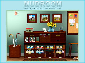 Sims 3 — Mudroom Extras Part II by Cashcraft — The set features an entryway organization unit for your home. Stop