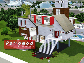 Sims 3 — Retromod by Amberfresh by amberfresh — Is it the past, is it the future? Brady Bunch meets the Jetson's in this