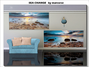 Sims 3 — Sea Change_marcorse by marcorse — Two calm and peaceful early morning beach scenes. 1 file.