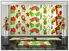 Sims 3 — The Colours of Christmas_marcorse by marcorse — Five selected Christmas designs in the colours of Christmas. All