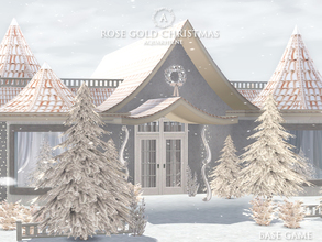 Sims 3 — Rose Gold Christmas by Aquarhiene — Bright Christmas house for your simmies! Interior contains: Kitchen with