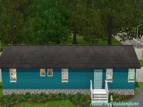 Sims 3 — Mobile Home  by goldenyune2 — Charming mobile home, perfect for the single Sim, featuring one bedroom, one