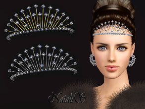 Sims 3 — NataliS TS3 Winter crystals tiara FT-FA by Natalis — Stunning jewelry for the winter holidays. Winter crystals