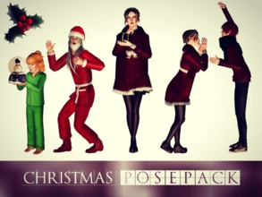 Sims 3 — Christmas 5 Poses by Storia_Studios — Hello!! Sorry, I'm a little late, but better late than never! I hope you