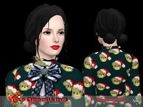 Sims 3 — Hair Christmas roses by Shushilda2 — Conversion and completion of hairstyles - Mesh and texture by 3dregenerator