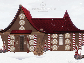 Sims 3 — Gingerbread House by Aquarhiene — Christmas Gingerbread house for your simmies! Interior contains: Kitchen with