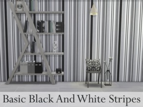 Sims 4 — Basic Black And White Stripes by simdsgn — Basic Black And White Stripes