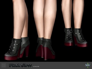 Sims 3 — Shoes black gloss by Shushilda2 — Elegant set on the basis of imitation leather and satin Shoes: - New mesh - 4