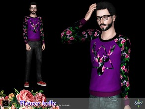 Sims 3 — Pullover Flower bully by Shushilda2 — Clohes set from The Sims Club Stuff: Tea Ceremony - 3 recolourable
