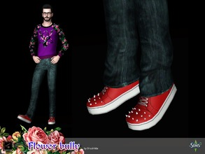 Sims 3 — Shoes Flower bully by Shushilda2 — Clohes set from The Sims Club Stuff: Tea Ceremony - 3 recolourable channels -