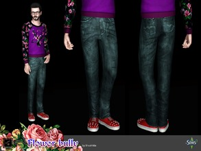 Sims 3 —  Bottom Flower bully by Shushilda2 — Clohes set from The Sims Club Stuff: Tea Ceremony - 1 recolourable channels