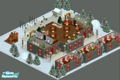 Sims 1 — Lot 41 -- Santa\'s Village by frisbud — He\'s making his list and checking it twice. Open to all Sims, naughty
