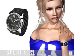 Sims 3 — Wrist watch sport little one by Shushilda2 — Set of sportswear for young active girls - New meshes - Recolorable