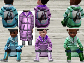 Sims 3 — ToddlerFluffyCoat by Sweet_Horizon — A nice winterjacket or winter coat for the smallest. The jacket can be dyed