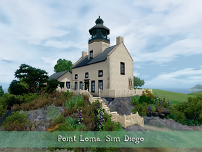 Sims 3 — Point Loma Sim Diego by fredbrenny — As I was looking at lighthouses, I came across this very nice, small and