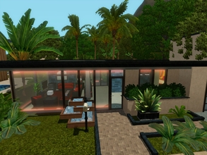 Sims 3 — Modern Pad by blgfan902 — This modern bachelor home is small yet has a lot to offer. When you walk through the