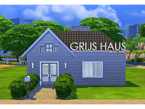 Sims 4 — [koala-sims] Grijs Haus - no CC by koala-sims — A small but sleek starter home. Practial use of space, with a