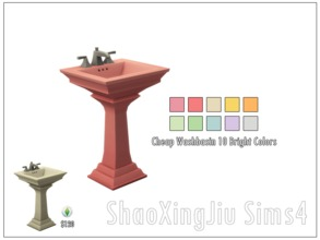 Sims 4 — Cheap Washbasin 18 New Colors by jeisse197 — 10 bright color And 8 dark color in, hope you like it! Category :
