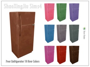 Sims 4 — Poor Refrigerator 10 New Colors by jeisse197 — 10 recolor in, hope you like it! Category : Electrical appliances