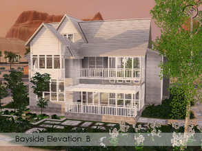 Sims 3 — The Bayside Elevation B by timi722 — A comfortable two-storey home for a medium family. Open plan living with
