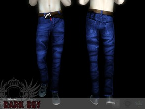 Sims 3 — Dark boy bottom #3 by Shushilda2 — Clothing and genetics set for tough guys Bottom: - new mesh - recolorable