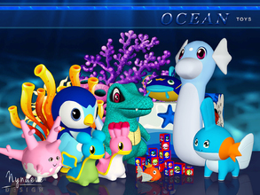 Sims 3 — Ocean Toys by NynaeveDesign — Cute and colorful toys! Sea-dwelling decor creatures, toys and a toy box for sims