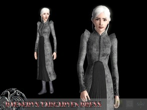 Sims 3 — Daenerys Targaryen Dress by Shushilda2 — Dress Daenerys Targaryen from the seventh season of the series ''Game