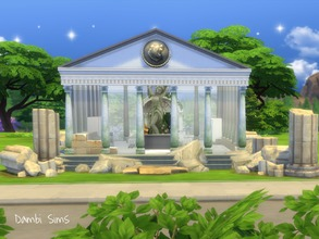 Sims 4 — Greek Roman Temple Antique Spa by dambisims — This is a Greek or Roman Temple in ruins adapted to modern days to