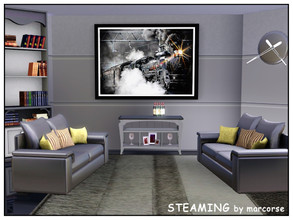Sims 3 — Steaming_marcorse by marcorse — A glimpse of the glory days of steam . . . a locomotive 'steaming' as it