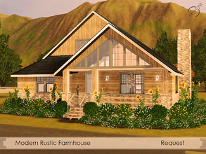 Sims 3 — Modern Rustic Farmhouse by timi722 — Kmrolli3423 requested this modern rustic farmhouse. Comfortable one storey