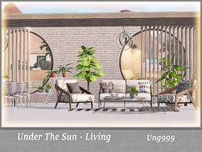 Sims 3 — Under The Sun - Living  by ung999 — Under The Sun contains two parts : living and dining. You can place them