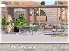 Sims 3 — Under The Sun - Dining  by ung999 — Part of Under The Sun this dining set includes the following 9 items :