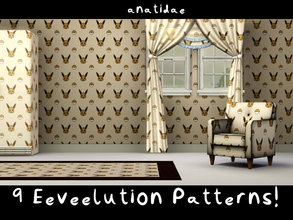 Sims 3 — [anatidae] 9 Eeveelution Patterns by anatidae — 9 patterns featuring Pokemon's adorable Eeveelutions, little