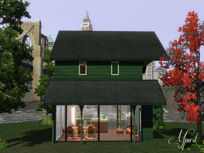 Sims 3 — The Glass Cabin by Mpart777 — A two bedroom, one bathroom home built on a small lot in Bridgeport. No custom or