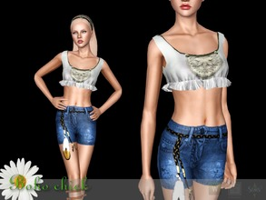 Sims 3 — Top Boho chick by Shushilda2 — The Catalog Magic Boho of the SIMS CLUB - New mesh - 3 recolorable channels - CAS