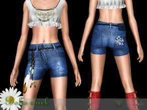 Sims 3 — Shorts Boho chick by Shushilda2 — The Catalog Magic Boho of the SIMS CLUB - New mesh - 2 recolorable channels -