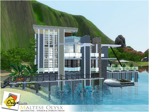 Sims 3 — Maltese Olysx by Onyxium — On the first floor: Living Room | Dining Room | Kitchen | Bathroom | Marina On the