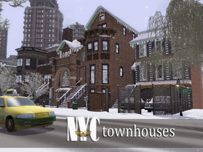 Sims 3 — NYC Townhouses by fredbrenny — NYC Townhouses. Smack! Right in the middle. Bridgeport's Big Apple needed some of
