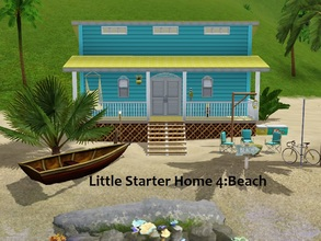 Sims 3 — Little Starter Home Beach by Jujubee77 — One bedroom, one bathroom starter home. Who doesn't like the beach?