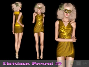 Sims 3 — Dress Zest #3 by Shushilda2 — Simple coquettish dress for a cocktail party - new mesh - recolorable The rest you