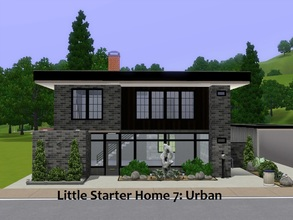 Sims 3 — Little Starter Home 7 Urban by Jujubee77 — One bedroom, one bathroom loft.