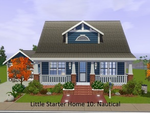 Sims 3 — Little Starter Home 10 Nautical by Jujubee77 — One bedroom, one bathroom with office area, separate dining room,