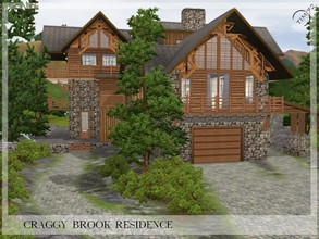 Sims 3 — Craggy Brook Residence by timi722 — This beautiful and very attractive residence is a mountain house. It sits in
