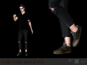 Sims 3 — Sneakers #1 by Shushilda2 — Conversion from the game Tony Hawk Low poly | recolorable channels | CAS and