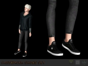 Sims 3 — Sneakers #2 by Shushilda2 — Conversion from the game Tony Hawk Low poly | recolorable channels | CAS and