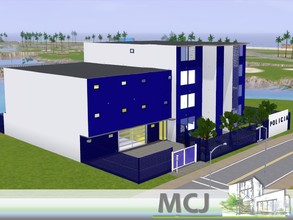 Sims 3 — Policia | Villa City by ritamartins18 — Police station with four floors, reception, parking, prison cells,