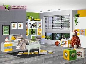 Sims 3 — Aura Kids Bedroom by NynaeveDesign — Create a truly multi-purpose room that will keep the sim kids entertained.
