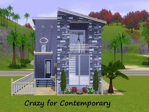 Sims 3 — Crazy for Contemporary by Jujubee77 — One bedroom, one bathroom with a nice nautical touch.
