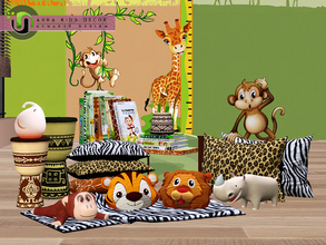 Sims 3 — Aura Play Room Decor by NynaeveDesign — A timeless children's theme that immerses sim toddlers in a savanna