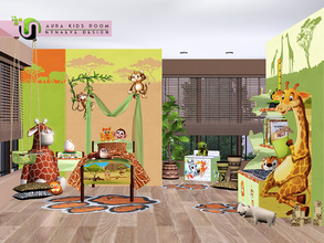Sims 3 — Aura Play Room by NynaeveDesign — Bring the feel of a savanna safari into your sim kid's room. Make it fun with